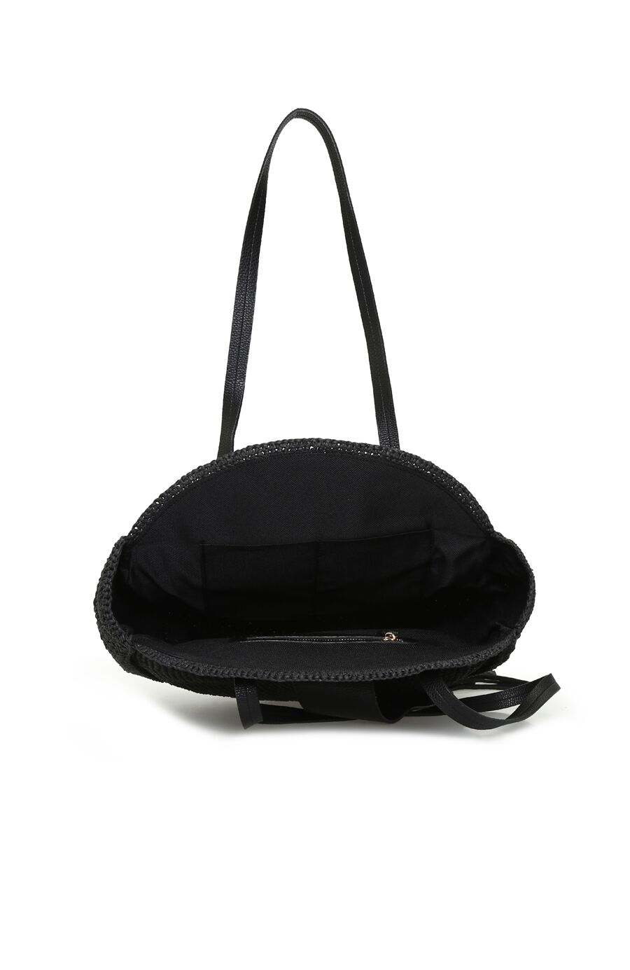 Siyah Hasır Kadın Çanta
