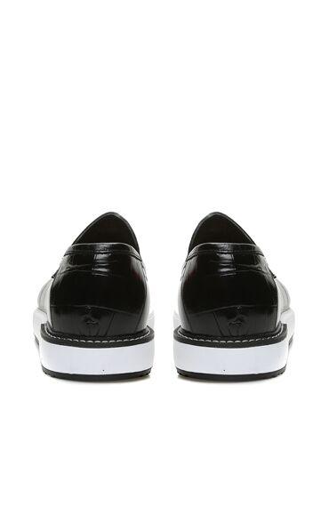 Kroko Siyah Loafer