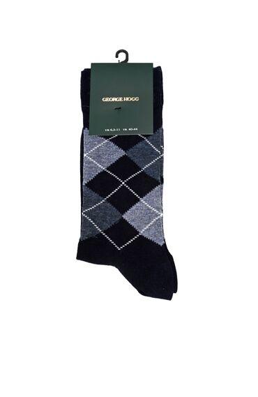 Ekose Lacivert Erkek Çorap