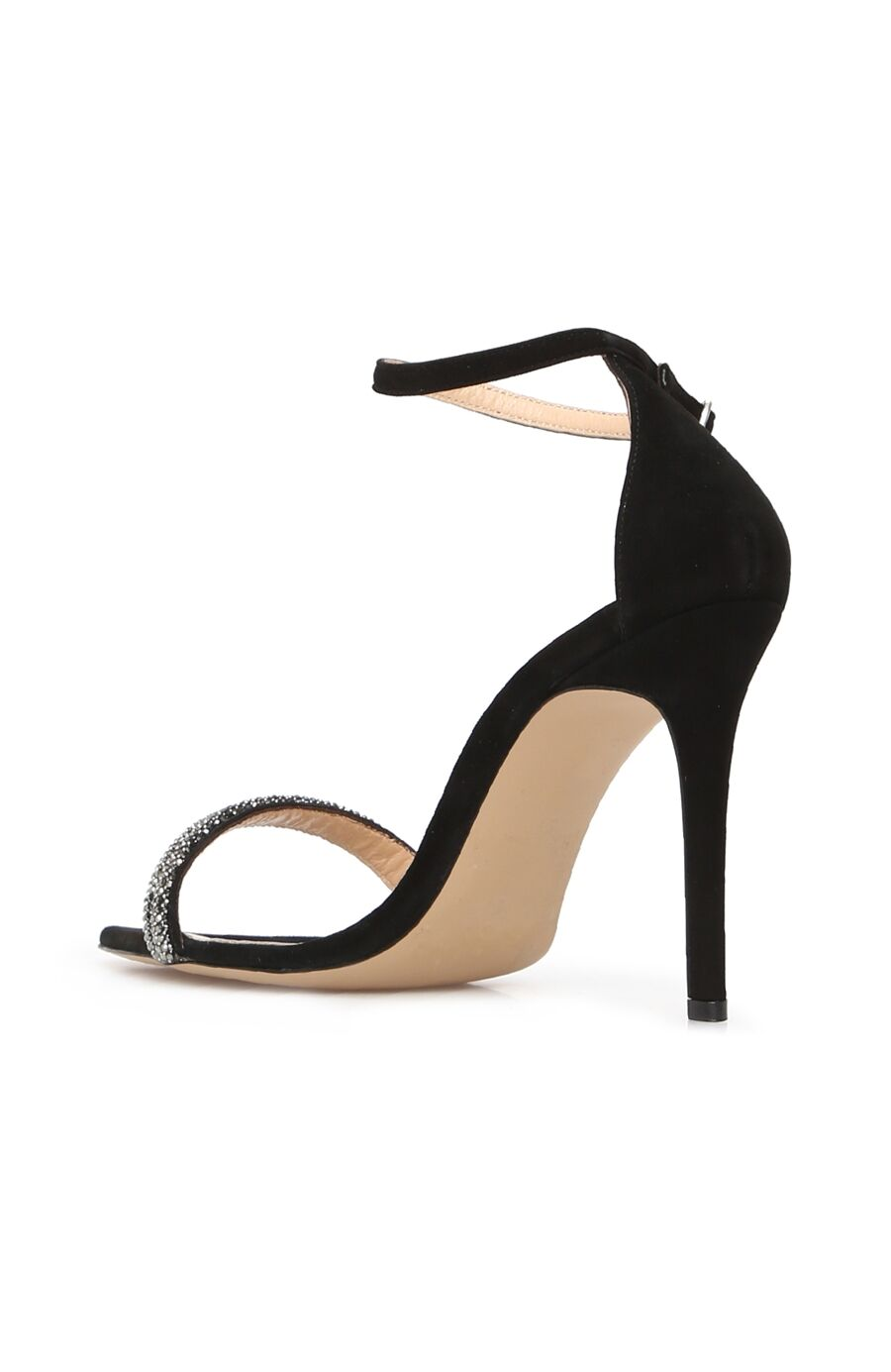 DCEY x Divarese Arissa Kadın Siyah Süet Sandalet