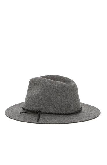 Gri Kadın Yün Şapka