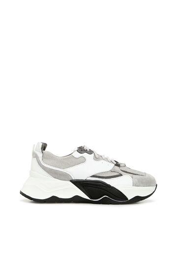 GEORGE HOGG SPORT Gri Beyaz Kadın Süet Sneaker