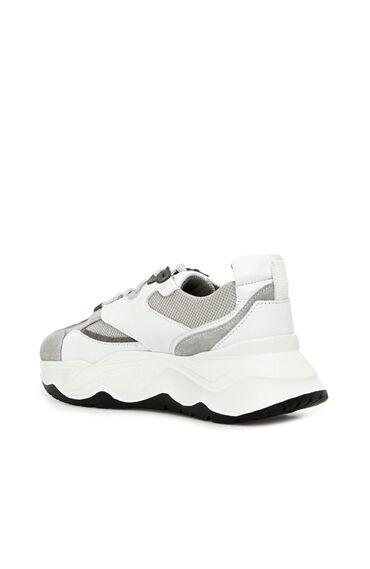 Gri Beyaz Kadın Süet Sneaker