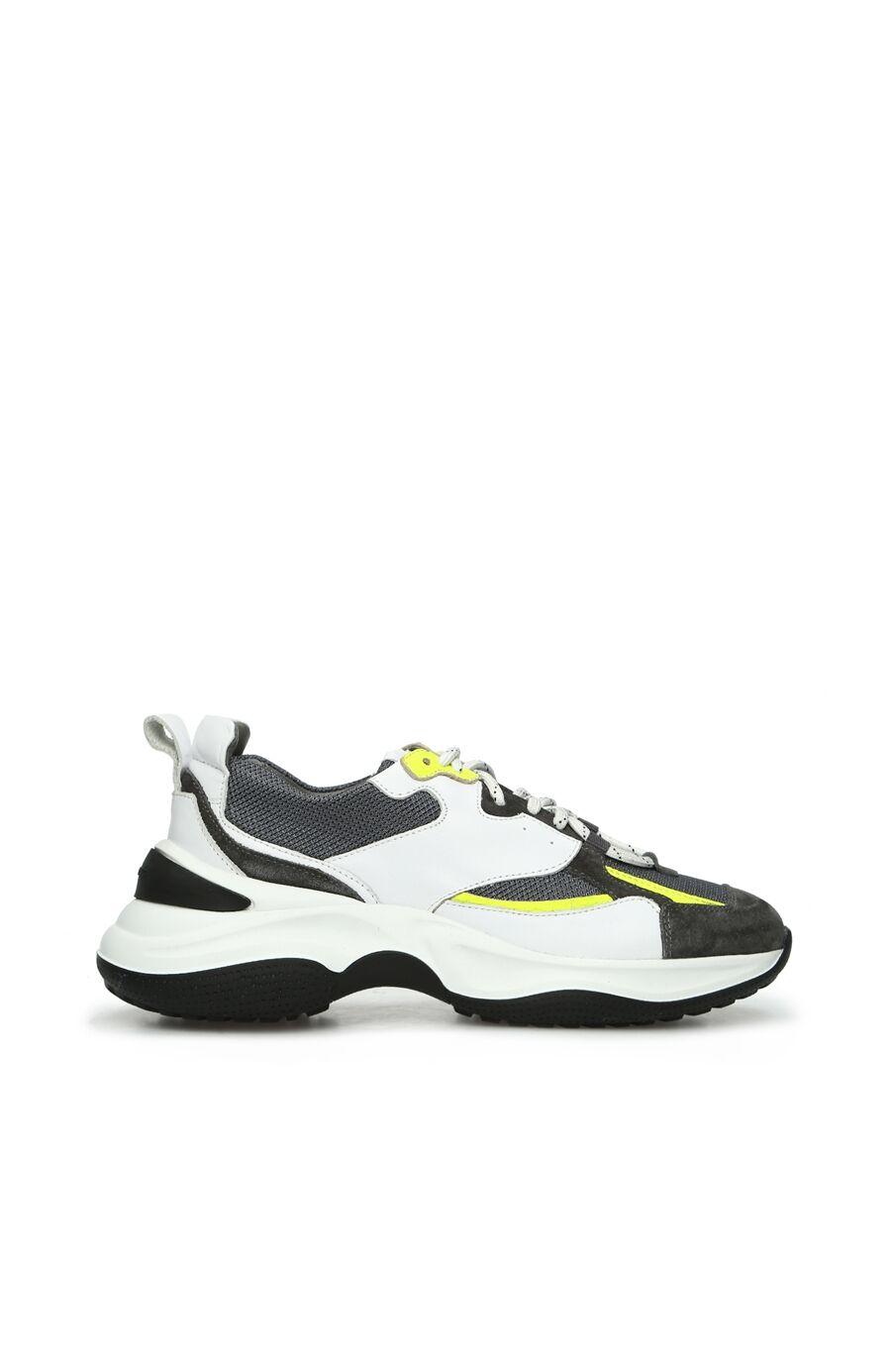 Beyaz Gri Kadın Süet Sneaker