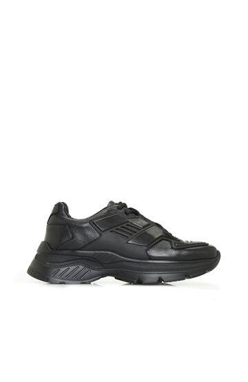 DIVARESE BLACK Siyah Kalın Tabanlı Kadın Sneaker