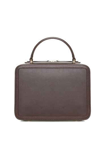 Kahverengi Kadın Deri Postacı Çanta