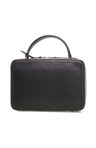 Siyah Kadın Deri Postacı Çanta