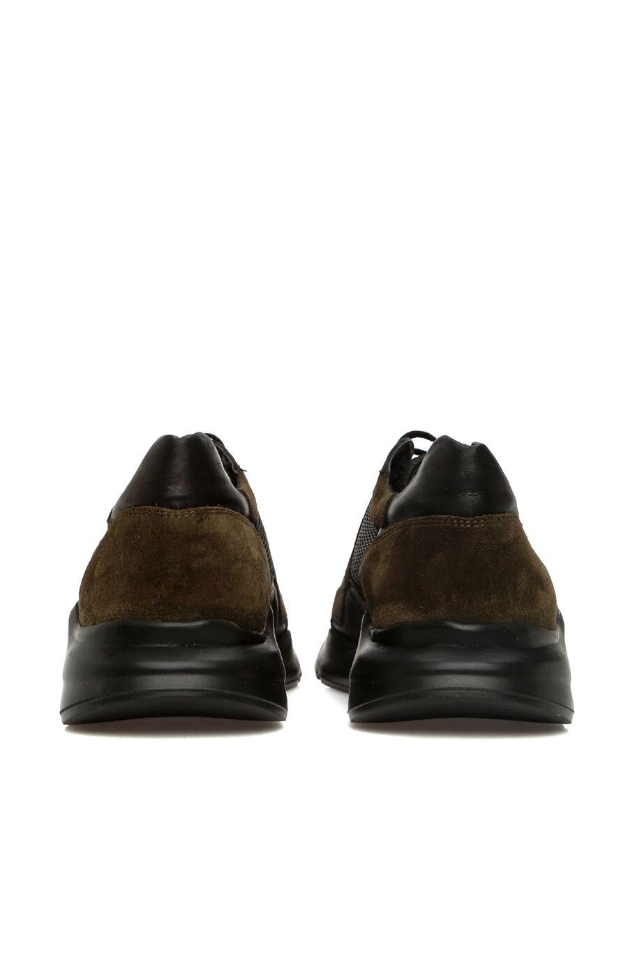 Haki File Garnili Erkek Süet Sneaker