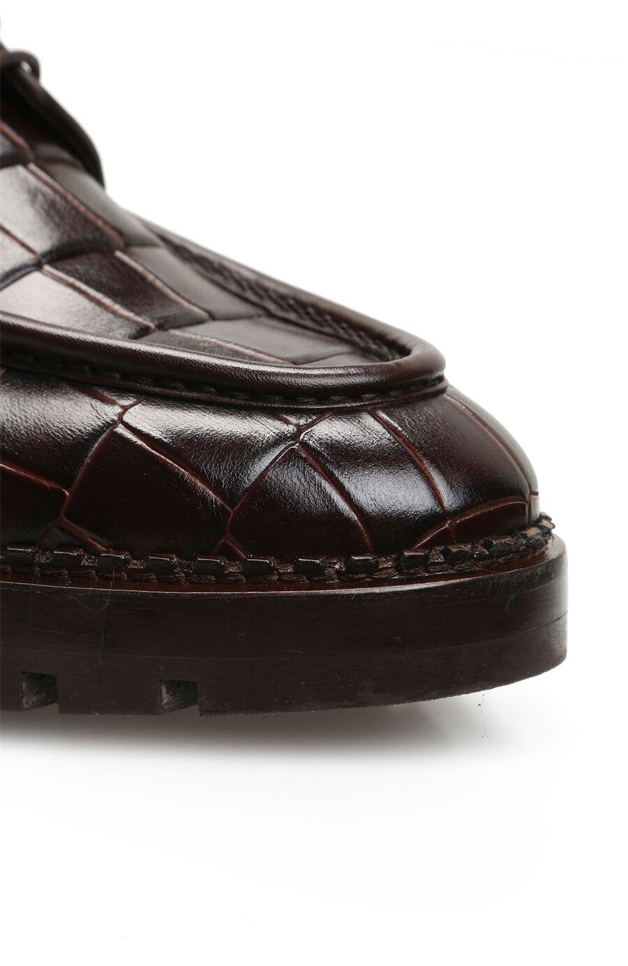 Kahverengi Kroko Erkek Ayakkabı