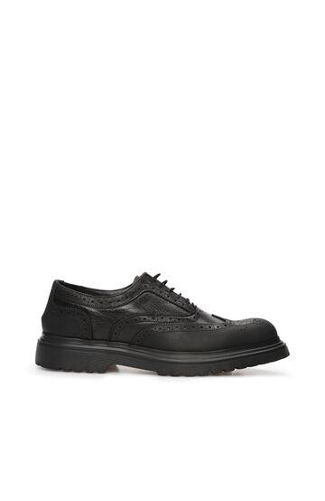 DIVARESE BLACK Siyah Delik Dokulu Erkek Deri Ayakkabı