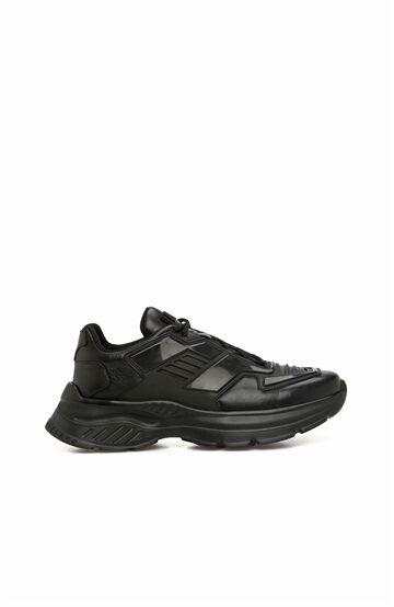 DIVARESE BLACK Siyah Erkek Deri Sneaker