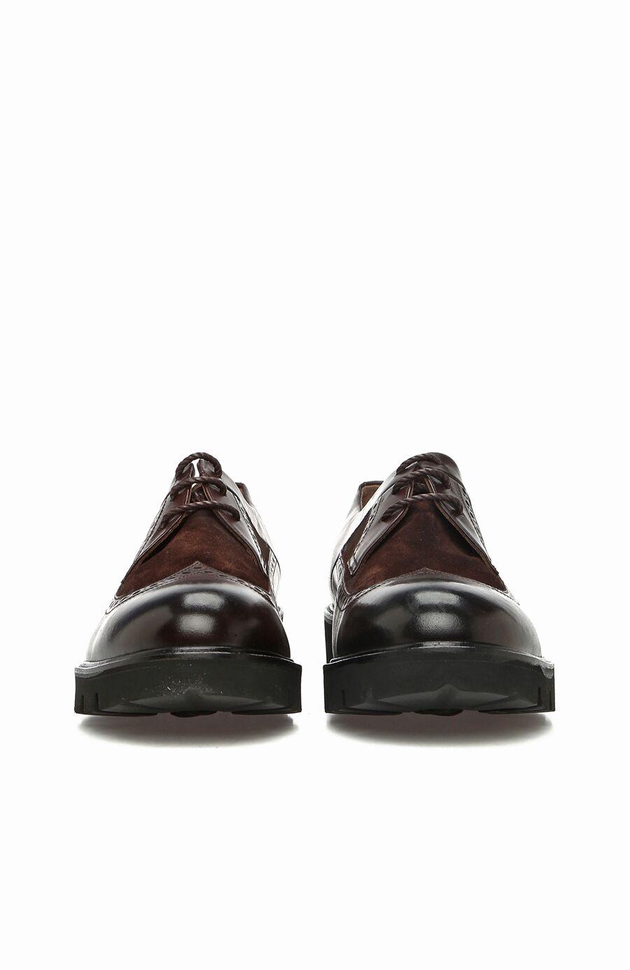 Kahverengi Zımbalı Erkek Deri Ayakkabı