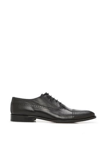 DI TROLLI Siyah Delik Dokulu Erkek Deri Ayakkabı