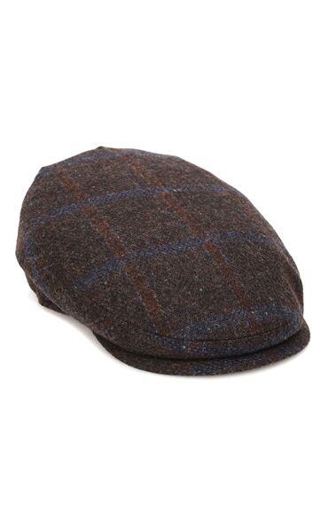 Kahverengi Çizgili Erkek Yün Şapka