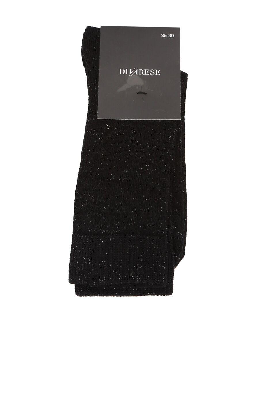 Siyah Sim Dokulu Kadın Çorap