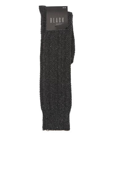 Antrasit Sim Dokulu Kadın Çorap