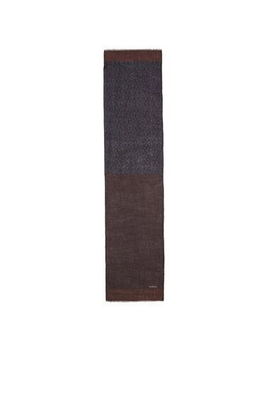 Kahverengi Mikro Desenli Erkek Yün Atkı