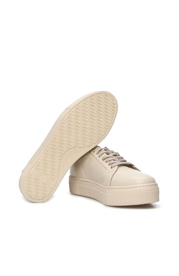 Ekru Kadın Deri Ayakkabı