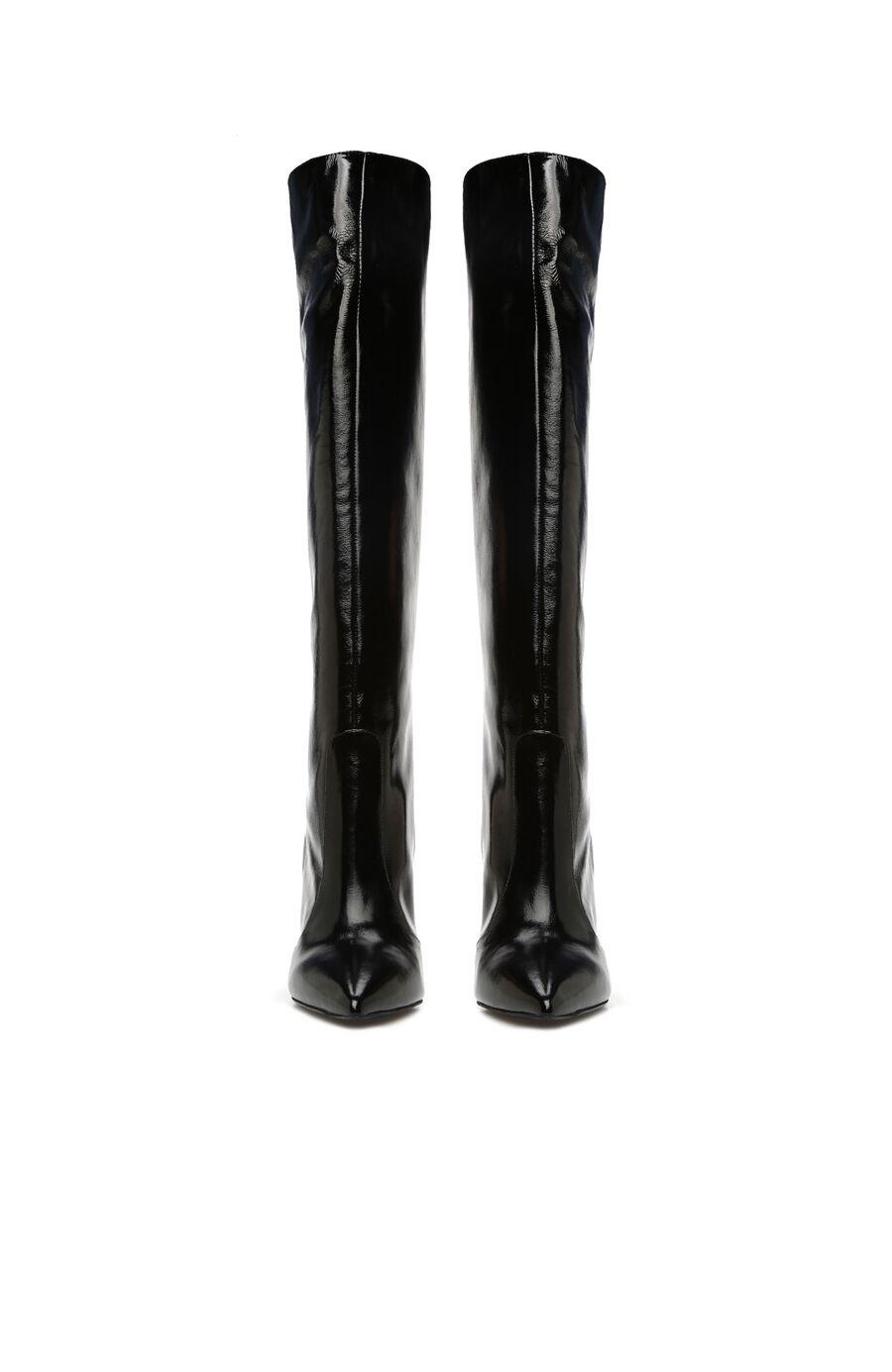 Siyah Kadın Rugan Çizme