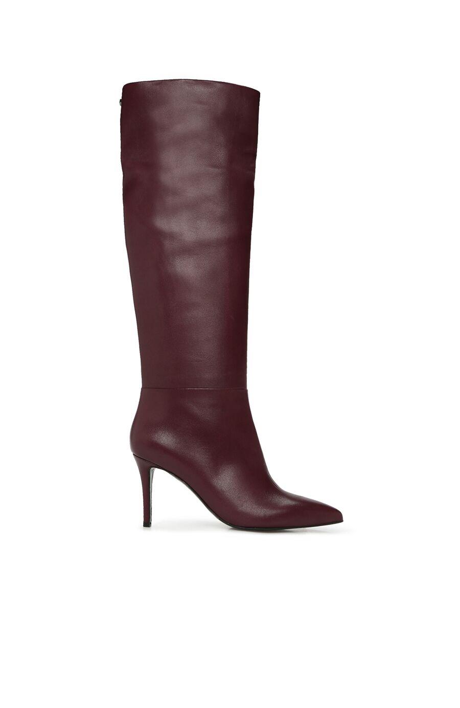 Bordo Kadın Deri Çizme