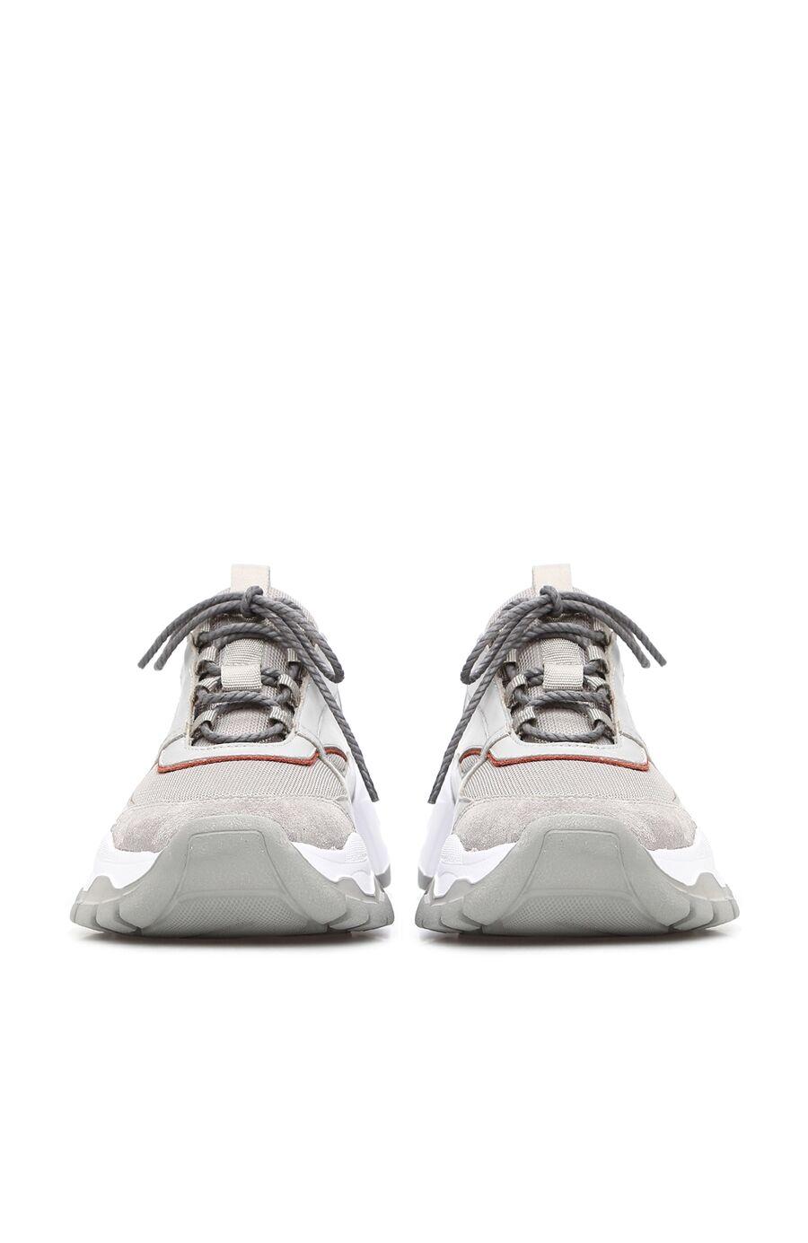 Gri Kiremit Eva Tabanlı Kadın Deri Sneaker