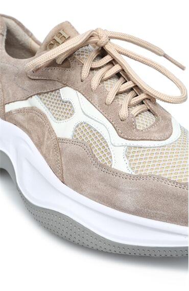 Bej Erkek Süet Sneaker