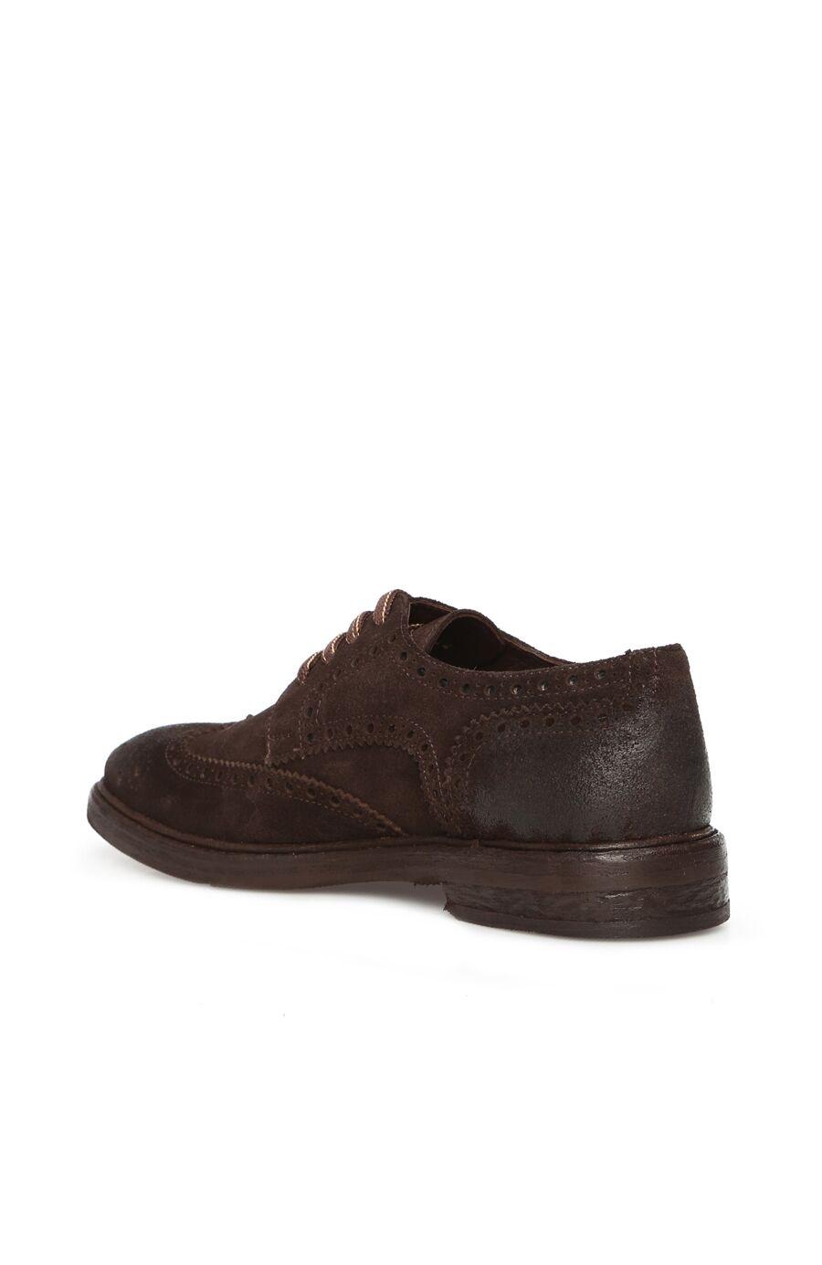 Kahverengi Kösele Tabanlı Erkek Süet Ayakkabı