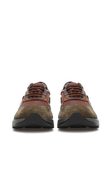 Haki Kahverengi Erkek Süet Sneaker