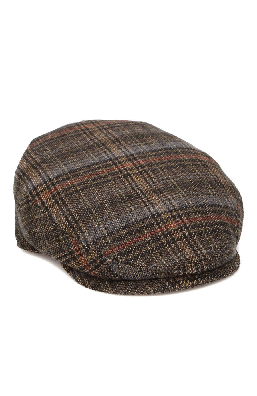 Ekose Desenl Erkek Yün Şapka