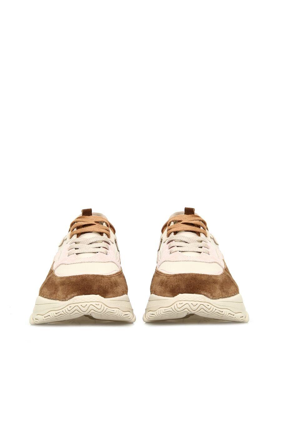 Bej Taba Garnili Kadın Sneaker