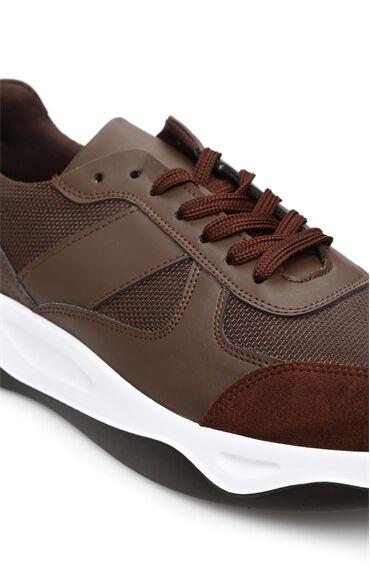 Kahverengi Garnili Erkek Sneaker