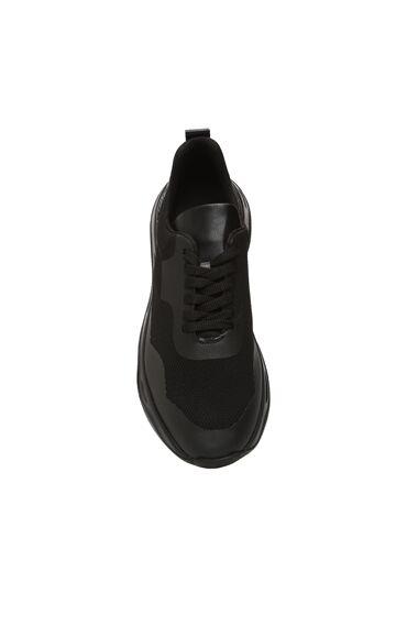 Siyah File Garnili Erkek Sneaker