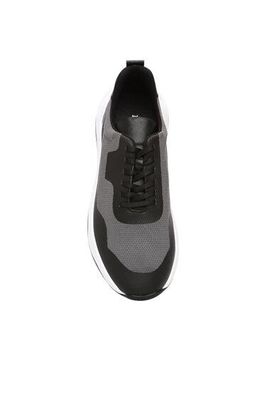 Gri Garnili Erkek Sneaker
