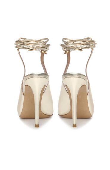Gold Topuklu Ayakkabı