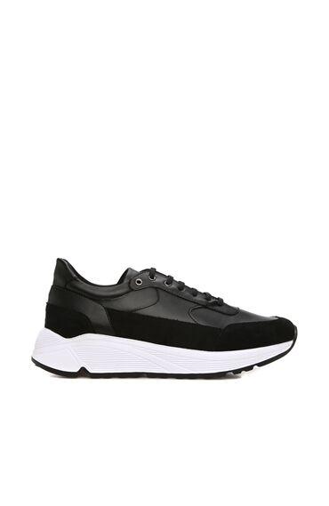 Siyah Garnili Erkek Sneaker