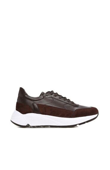 Kahverengi Kalın Tabanlı Erkek Erkek Sneaker