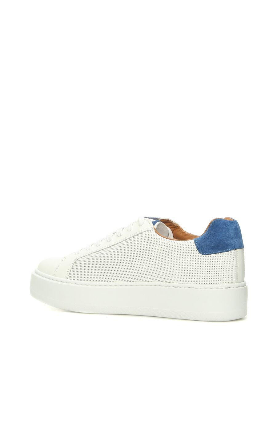 Beyaz Saks Deri Erkek Sneaker