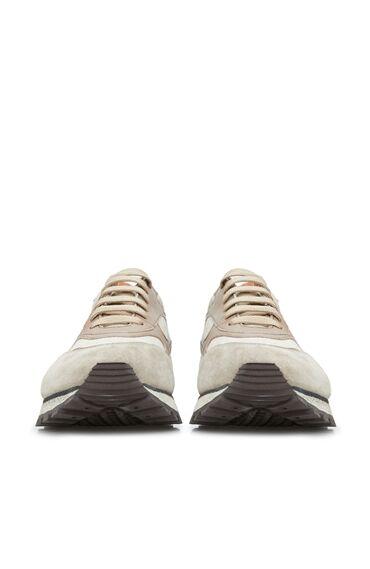 Erkek Bej Garnili Logolu Sneaker
