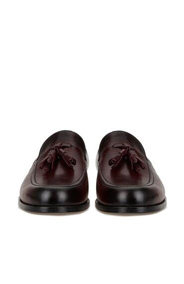 Bordo Erkek Deri Loafer