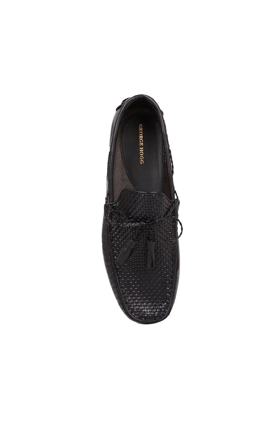 Erkek Siyah Dokulu Püsküllü Loafer
