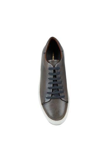 Antrasit Logolu Erkek Ayakkabı