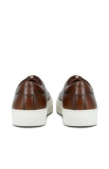 Kahverengi Logolu Erkek Ayakkabı