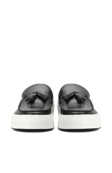 Lacivert Püsküllü Erkek Deri Loafer