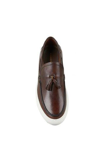 Erkek Kahverengi Püskül Detaylı Ayakkabı