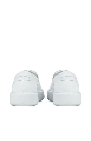 Beyaz Erkek Deri Loafer
