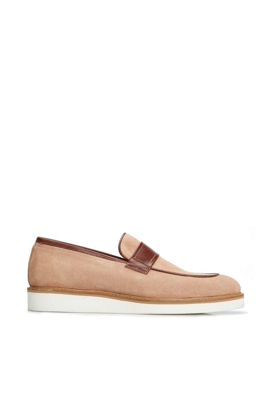 Erkek Bej Bantlı Ayakkabı