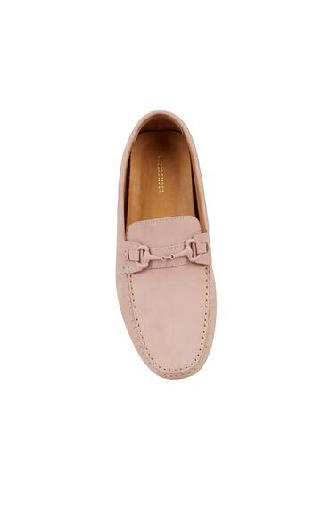 Pembe Erkek Deri Loafer