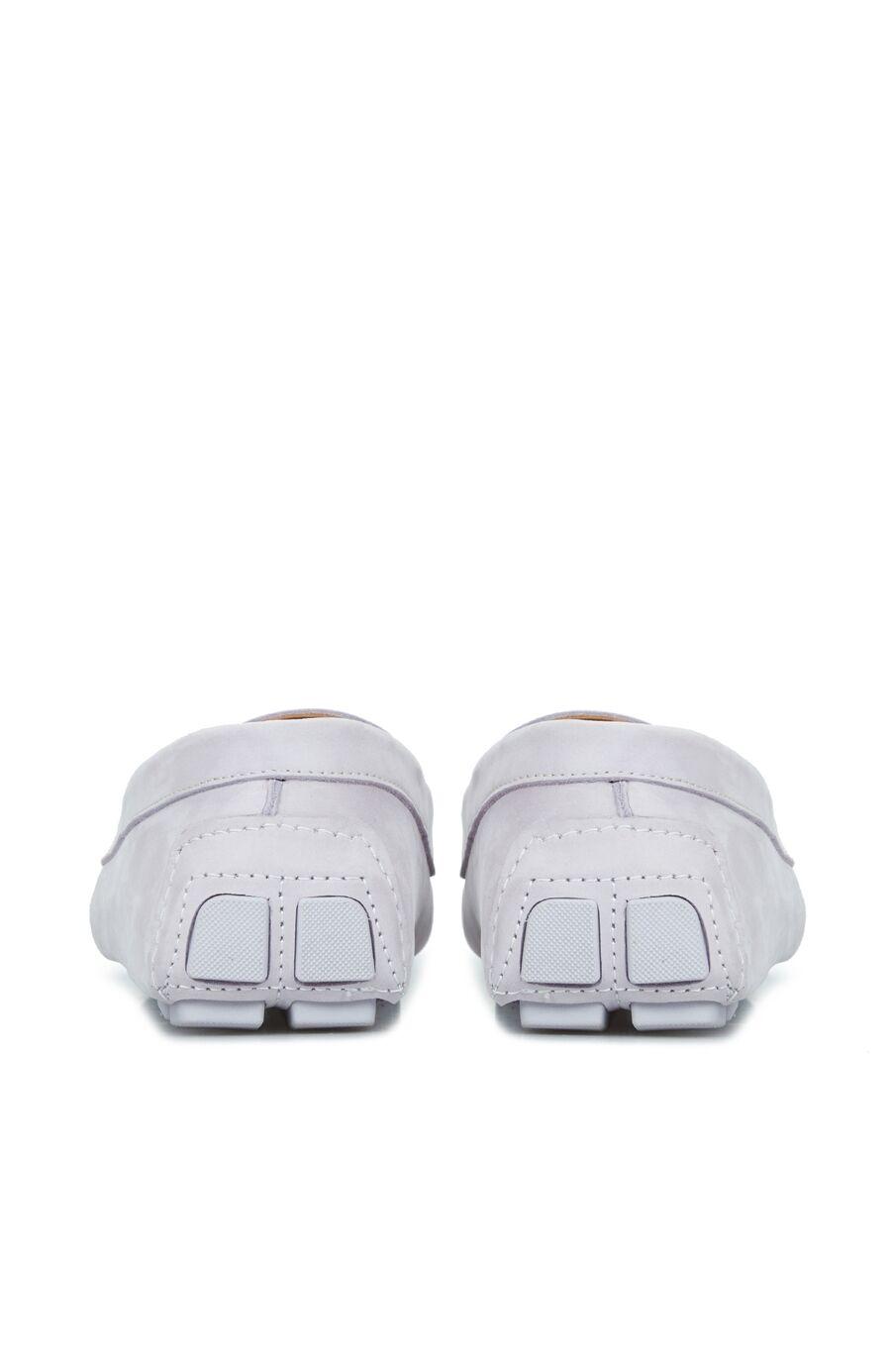 Beyaz Bant Detaylı Erkek Loafer