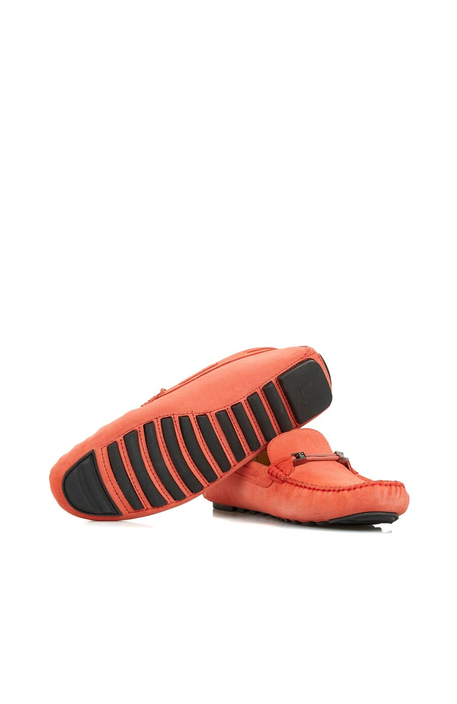 Mercan Bantlı Erkek Süet Loafer
