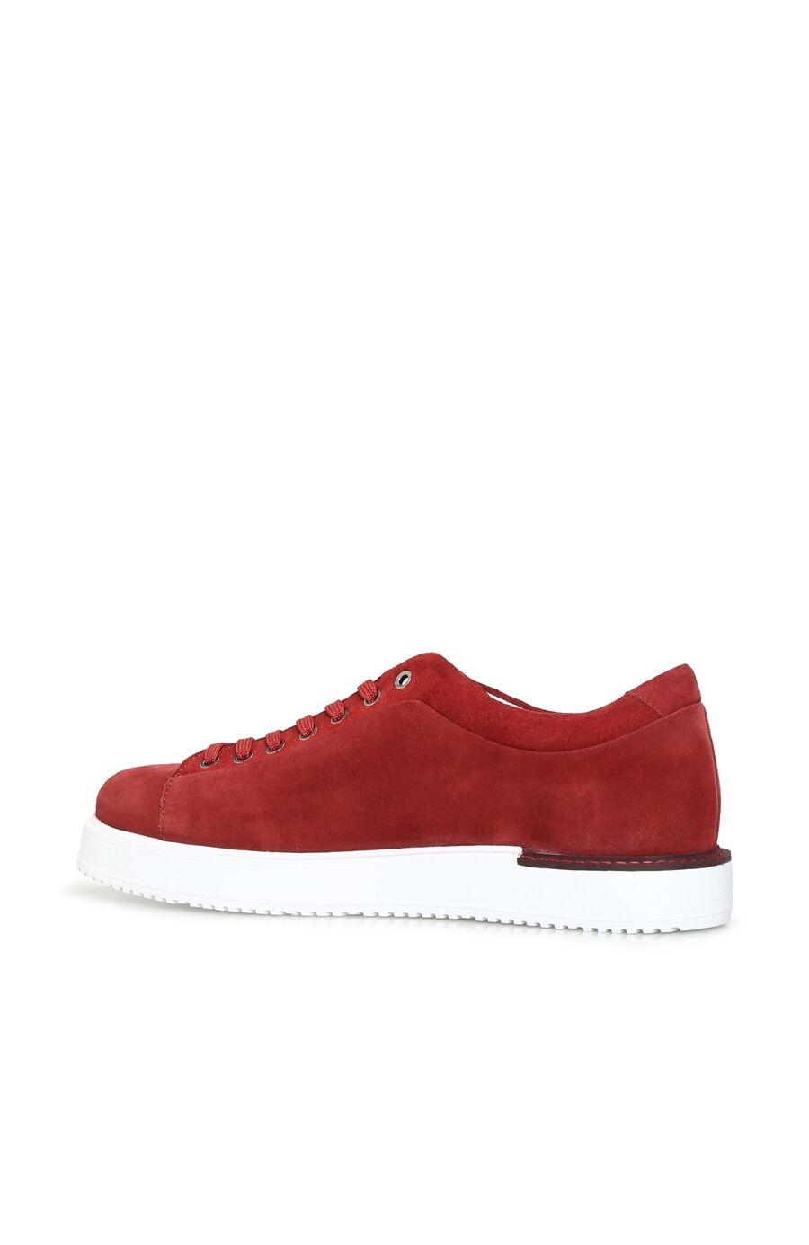 Kırmızı Logolu Süet Erkek Sneaker